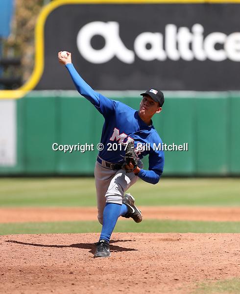 David Morillo participates in the MLB International Showcase at Estadio Quisqeya on February 22-23, 2017 in Santo Domingo, Dominican Republic.