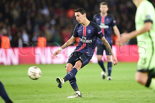 06.04.2016. Paris, France. UEFA CHampions League, quarter-final. Paris St Germain versus Manchester City.  Angel Di Maria (PSG)