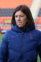 Tottenham Hotspur womens manager Karen Hills during Tottenham Hotspur Women vs West Ham United Women, Barclays FA Women's Super League Football at the Hive Stadium on 12th January 2020