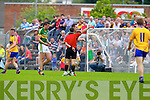 Anthony Maher Kerry gets a red card against Clare in the Munster Senior Championship Semi Final in Cusack Park, Ennis on Sunday.