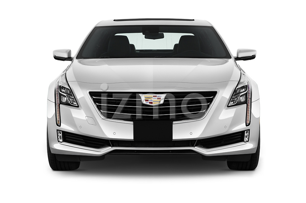 Car photography straight front view of a 2017 Cadillac CT6 RWD 4 Door Sedan Front View