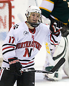 Steve Silva (NU - 17) - The Northeastern University Huskies defeated the St. Thomas Tommies 7-5 in their exhibition match on Saturday, October 3, 2009, at Matthews Arena in Boston, Massachusetts.