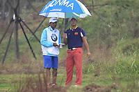 Cao Yi (CHN) on the 3rd tee during Thursday's Round 1 of the 2014 BMW Masters held at Lake Malaren, Shanghai, China 30th October 2014.<br /> Picture: Eoin Clarke www.golffile.ie