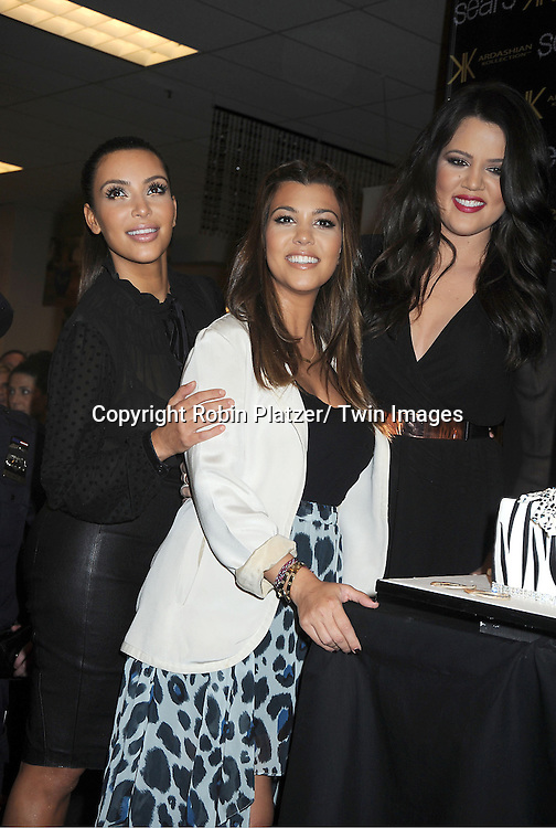 Kim Kardashian, Kourtney and Chloe Kardashian make an appearance at the Sears in Yonkers.to celebrate the one year anniversary of their Kardashian Kollection on September 14, 2012 in Yonkers.