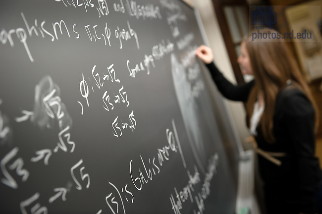 Mar. 1, 2012; Department of mathematics, 2012..Photo by Matt Cashore/University of Notre Dame
