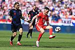 08.06.2019., stadium Gradski vrt, Osijek - UEFA Euro 2020 Qualifying, Group E, Croatia vs. Wales. Mateo Kovacic, Harry Wilson. <br /> <br /> Foto © nordphoto / Davor Javorovic/PIXSELL