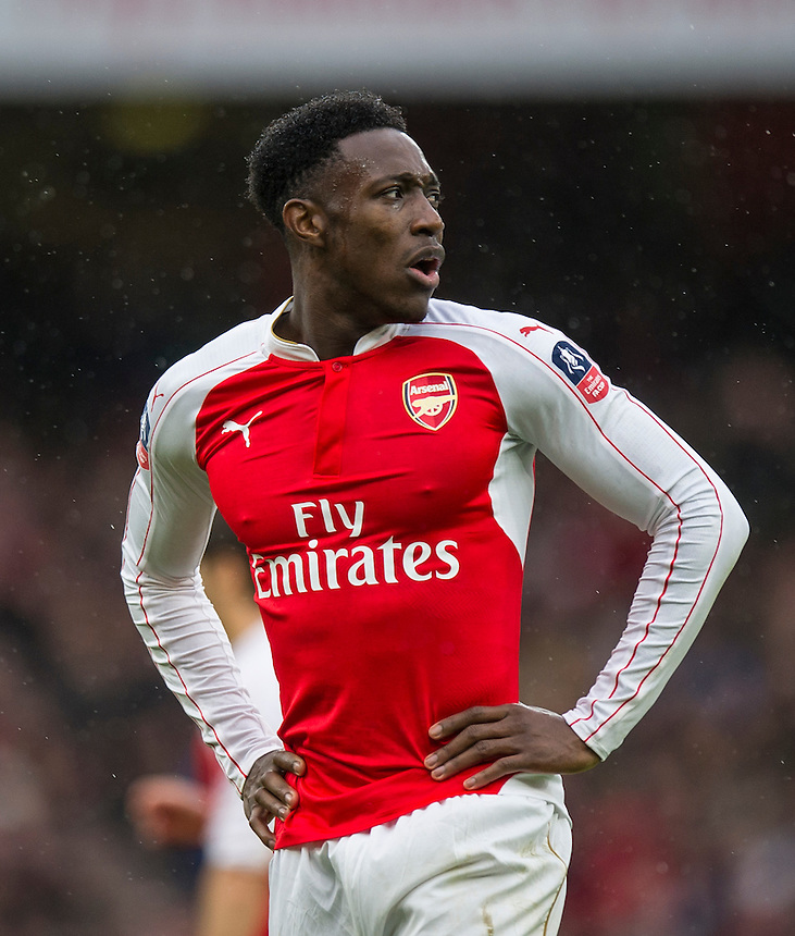 Arsenal's Danny Welbeck<br /> <br /> Photographer Ashley Western/CameraSport<br /> <br /> Football - The FA Cup Fifth Round - Arsenal v Hull City - Saturday 20th February 2016 - Emirates Stadium - London<br /> <br /> &copy; CameraSport - 43 Linden Ave. Countesthorpe. Leicester. England. LE8 5PG - Tel: +44 (0) 116 277 4147 - admin@camerasport.com - www.camerasport.com