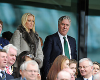 13th June 2013; Euro 2016 Qualifier, Republic of Ireland vs Scotland, Aviva Stadium, Dublin. <br /> FAI chief executive John Delaney with his wife Emma English before the game.<br /> Picture credit: Tommy Grealy/actionshots.ie.