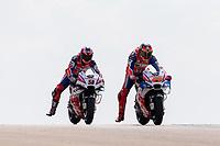JACK MILLER - AUSTRALIAN - ALMA PRAMAC RACING - HONDA<br /> DANILO PETRUCCI - ITALIAN - ALMA PRAMAC RACING - DUCATI<br /> Aragon 22-09-2018 Moto Gp Spagna <br /> Foto Vincent Guignet / Panoramic / Insidefoto <br /> ITALY ONLY