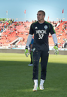 August 10, 2013: Seattle Sounders FC goalkeeper Andrew Weber #37 walks off the pitch after warm up during an MLS regular season game between the Seattle Sounders and Toronto FC at BMO Field in Toronto, Ontario Canada.<br /> Seattle Sounders FC won 2-1.