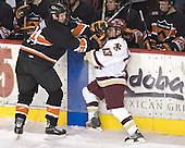Mike Moore, Pat Gannon - Boston College defeated Princeton University 5-1 on Saturday, December 31, 2005 at Magness Arena in Denver, Colorado to win the Denver Cup.  It was the first meeting between the two teams since the Hockey East conference began play.