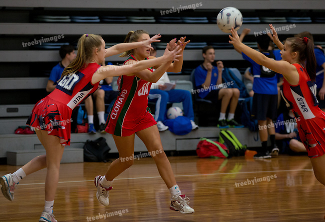 School Championships  16/09/2013<br /> <br /> Netball Victoria  School championships <br /> year 9 & 10<br /> <br /> <br /> Photo: Grant Treeby<br /> www.treebyimages.com.au