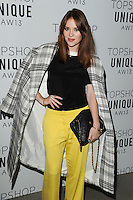 Angela Scanlon arrives at the Unique show as part of London Fashion Week AW13, Tate Modern, London. 17/02/2013 Picture by: Steve Vas / Featureflash