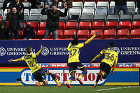 Ryan Ledson celebrates scoring Oxford United's third goal during Charlton Athletic vs Oxford United, Sky Bet EFL League 1 Football at The Valley on 3rd February 2018