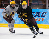 Ryan Reilly (MN - 9), ? - The University of Minnesota Golden Gophers practiced on Wednesday, April 9, 2014, at the Wells Fargo Center during the 2014 Frozen Four in Philadelphia, Pennsylvania.