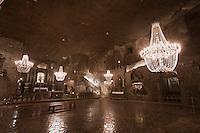 Europe/Voïvodie de Petite-Pologne/Environs de Cracovie/Wieliczka: Mine de Sel Wieliczka inscrite au patrimoine mondial UNESCO - La Chapelle Sainte-Kinga
