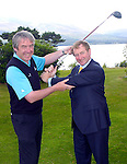 04--7-11:  Taoiseach Enda Kenny receives some golfing tips from Killarney Golf Club Pro David Keating when he visited the Killeen course which will host the Irish Open in Killarney  at the end of July.  Picture: Kevin Coleman (MacMonagle, Killarney)