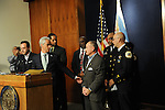 Chicago Mayor Rahm Emanuel enters a press conference at Chicago City Hall along with Interim Chicago Police Superintendent John Escalante (at right, in front) announcing more Tasers for Chicago police officers and training following a deadly shooting involving Chicago police over the weekend while Mayor Emanuel was on vacation in Cuba in Chicago, Illinois on December 30, 2015.  Over the weekend, Chicago police shot and killed 55 year old Bettie Jones and 19 year old Quintonio LeGrier while responding to a call over a domestic incident.