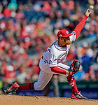 5 April 2018: Washington Nationals pitcher Sean Doolittle on the mound against the New York Mets at Nationals Park in Washington, DC. The Mets defeated the Nationals 8-2 in the first game of their 3-game series. Mandatory Credit: Ed Wolfstein Photo *** RAW (NEF) Image File Available ***