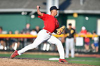 Johnson City Cardinals pitcher Hector Soto (37) delivers a pitch during game three of the Appalachian League, West Division Playoffs against the Bristol Pirates at TVA Credit Union Ballpark on September 1, 2019 in Johnson City, Tennessee. The Cardinals defeated the Pirates 7-5 to win the series 2-1. (Tony Farlow/Four Seam Images)