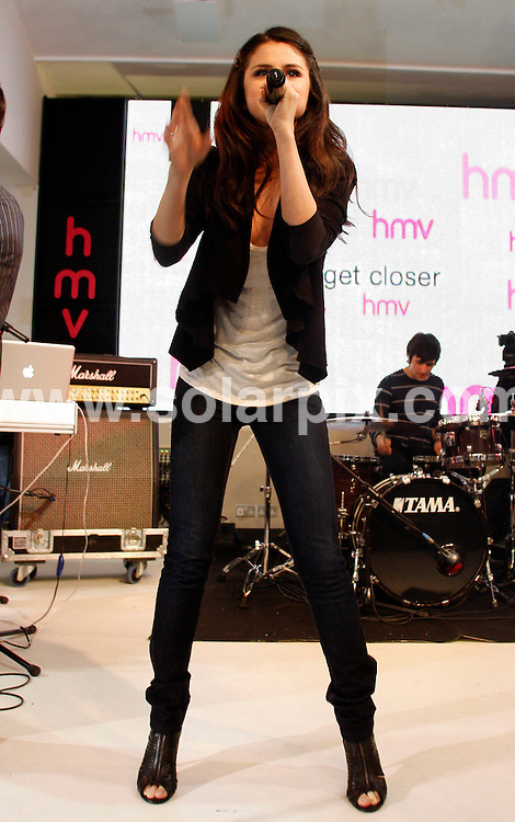 **ALL ROUND PICTURES FROM SOLARPIX.COM**.**WORLDWIDE SYNDICATION RIGHTS**.Disney darling Selena Gomez made an in-store appearance at an HMV store in London, England where she is currently promoting her debut album Kiss & Tell. Selena did a signing for her London fans, as well as put on a performance. London, UK. 12 April 2010..This pic: Selena Gomez..JOB REF: 11066 LNJ     DATE: 12_04_2010.**MUST CREDIT SOLARPIX.COM OR DOUBLE FEE WILL BE CHARGED**.**MUST NOTIFY SOLARPIX OF ONLINE USAGE**.**CALL US ON: +34 952 811 768 or LOW RATE FROM UK 0844 617 7637**