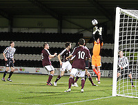 Alan Combe gathers the ball in the St Mirren v Heart of Midlothian Clydesdale Bank Scottish Premier League U20 match played at St Mirren Park, Paisley on 6.11.12.
