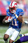 Southern Methodist Mustangs wide receiver Rashee Rice (11) in action during the game between the East Caroline Pirates  and the SMU Mustangs at the Gerald J. Ford Stadium in Fort Worth, Texas.