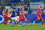 11.12.2018, VELTINS Arena, Gelsenkirchen, Deutschland, GER, UEFA Champions League, Gruppenphase, Gruppe D, FC Schalke 04 vs. FC Lokomotiv Moskva / Moskau<br /> <br /> DFL REGULATIONS PROHIBIT ANY USE OF PHOTOGRAPHS AS IMAGE SEQUENCES AND/OR QUASI-VIDEO.<br /> <br /> im Bild Torschuss Yevhen Konoplyanka (#11 Schalke)<br /> <br /> Foto © nordphoto / Kurth