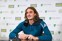 Rotterdam, The Netherlands, 12 Februari 2019, ABNAMRO World Tennis Tournament, Ahoy, Press Conference, Stefanos Tsisipas (GRC),<br /> Photo: www.tennisimages.com/Henk Koster