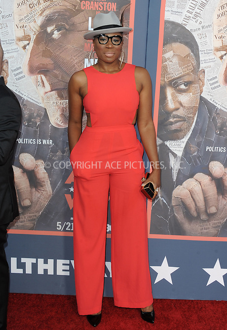 WWW.ACEPIXS.COM<br /> <br /> May 10 2016, LA<br /> <br /> Aisha Hinds arriving at the premiere of HBO's 'All The Way' at Paramount Studios on May 10, 2016 in Hollywood, California.<br /> <br /> By Line: Peter West/ACE Pictures<br /> <br /> <br /> ACE Pictures, Inc.<br /> tel: 646 769 0430<br /> Email: info@acepixs.com<br /> www.acepixs.com