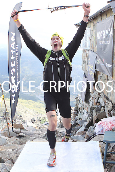 Race number 44 - Kristian Horne-  Sunday Norseman Xtreme Tri 2012 - Norway - photo by chris royle / boxingheaven@gmail.com