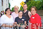 Enjoying the Killarney Summerfest Fun Run on Friday evening were Joele Lee, Lisa Harrington, Stephanie Watson, Noel Fleming and Andrea Reidy, Kenmare.....