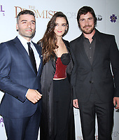 NEW YORK, NY April .18, 2017 Oscar Isaac, Charlotte Le Bon, Christian Bale attend Survival Pictures and Open Road in partnership with Ambassador Zohrab Mnatsakanyan, Permanent Representative of Armenia to the United Nations host a special screening of The Promise  at the Paris Theatre in New York April 19,  2017. <br /> CAP/MPI/RW<br /> &copy;RW/MPI/Capital Pictures