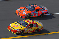 Apr 27, 2007; Talladega, AL, USA; Nascar Nextel Cup Series driver Kevin Harvick (29) leads teammate Jeff Burton (31) during practice for the Aarons 499 at Talladega Superspeedway. Mandatory Credit: Mark J. Rebilas