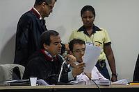 SAO LUIZ,MA, 03.02.2014 - JULGAMENTO CASO DÉCIO SÁ - SÃO LUIS - MA - O Promotor  titular do caso Dr. Rodolfo Reis durante o primeiro dia de julgamento do caso Décio Sá, jornalista que foi assassinado  no dia 23 de abril 2012, em um bar na Avenida Litorânea em São Luis, foram ouvidas as testemunhas de defesa, muitas delas não quiseram depor na presença dos acusados por medo de algum tipo de represália. Julgamento realizado no Forum Desembargador Sarney no bairro Calhau na cidade de Sao Luis do Maranhao. (Foto: Jardiel Carvalho/Brazil Photo Press).