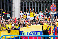 Colombian supporters during La Vuelta a España 2016 in Madrid. September 11, Spain. 2016. (ALTERPHOTOS/BorjaB.Hojas) NORTEPHOTO.COM