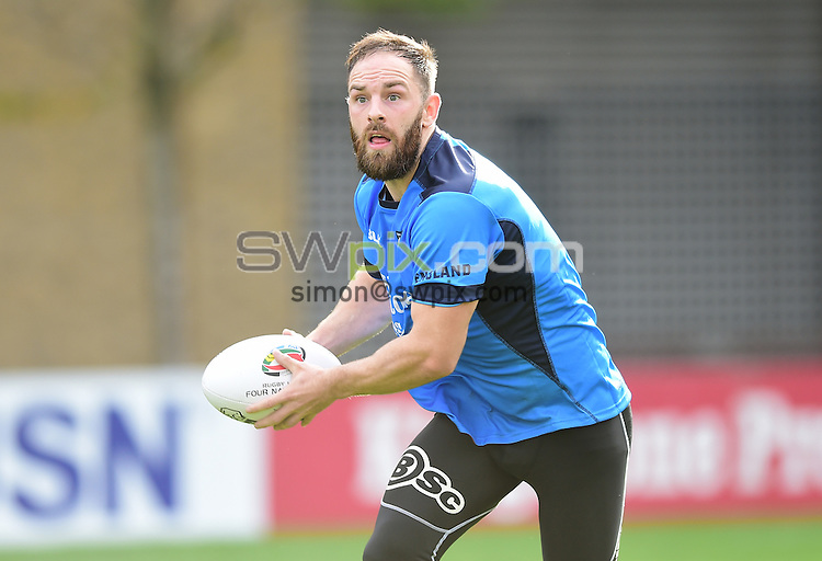 Picture by Alex Broadway/SWpix.com - 16/10/2016 - Rugby League - England Rugby League Training Session - HAC, London, United Kingdom - Luke Gale of England.
