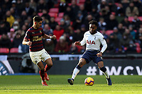Danny Rose of Tottenham Hotspur and Ayoze Perez of Newcastle United during Tottenham Hotspur vs Newcastle United, Premier League Football at Wembley Stadium on 2nd February 2019