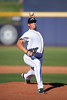 Peoria Javelinas pitcher Brad Wieck (55), of the San Diego Padres organization, during a game against the Surprise Saguaros on October 12, 2016 at Peoria Stadium in Peoria, Arizona.  The game ended in a 7-7 tie after eleven innings.  (Mike Janes/Four Seam Images)