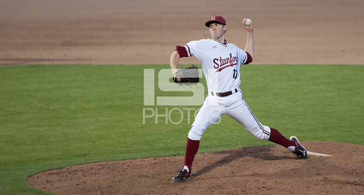 STANFORD, CA - March 31, 2015: Stanford Cardinal vs the USF Dons at Klein Field, Sunken Diamond. Stanford won 5-3