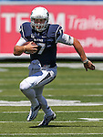 Nevada's quarterback Cody Fajardo (17) runs against Southern Utah in the first half of an NCAA college football game on Saturday, Aug. 30, 2014 in Reno, Nev. (AP Photo/Cathleen Allison)