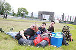 Oisin Brennan, Declan Kierans and Paul McGrath on Day 1 of the Oxegen Festival, Punchestown, Co.Kildare...(Photo credit should read Jenny Matthews www.newsfile.ie)....This Picture has been sent you under the conditions enclosed by:.Newsfile Ltd..The Studio,.Millmount Abbey,.Drogheda,.Co Meath..Ireland..Tel: +353(0)41-9871240.Fax: +353(0)41-9871260.GSM: +353(0)86-2500958.email: pictures@newsfile.ie.www.newsfile.ie.