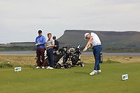 Mark Power (Kilkenny) on the 12th tee during the Flogas Irish Amateur Open Championship 2019 at the Co.Sligo Golf Club, Rosses Point, Sligo, Ireland. 15/05/19<br /> <br /> Picture: Thos Caffrey / Golffile<br /> <br /> All photos usage must carry mandatory copyright credit (© Golffile | Thos Caffrey)