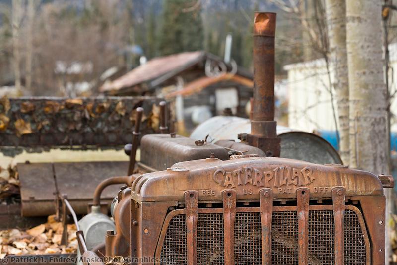 Old Caterpillar Bulldozer in the old mining community of Wiseman, Alaska.