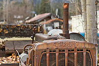 Old Caterpillar Bulldozer in the old mining community of Wiseman, Alaska.