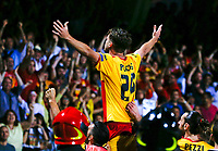 George  Puscas celebrates after scoring during  Finale Playoff di Serie A   Benevento Carpi  allo  Stadio Vigorito  di Benevento , 08 giugno 2017