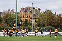 General view of match action during the Greene King IPA Championship match between London Scottish Football Club and Ealing Trailfinders at Richmond Athletic Ground, Richmond, United Kingdom on 8 September 2018. Photo by David Horn.