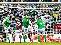 3rd March 2020; Easter Road, Edinburgh, Scotland; Scottish Premiership Football, Hibernian versus Heart of Midlothian; Ofir Marciano of Hibernian makes a crucial save to keep the score at 0-0
