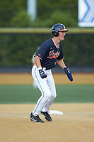 Jake McCarthy (31) of the Virginia Cavaliers takes his lead off of second base against the Wake Forest Demon Deacons at David F. Couch Ballpark on May 19, 2018 in  Winston-Salem, North Carolina. The Demon Deacons defeated the Cavaliers 18-12. (Brian Westerholt/Four Seam Images)