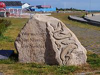 Mahnmal zum Schutz der Tiere der Nordsee, Insel Helgoland, Schleswig-Holstein, Deutschland, Europa<br /> Monument for nature protection, Helgoland island, district Pinneberg, Schleswig-Holstein, Germany, Europe